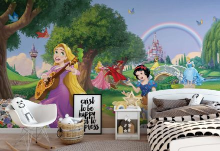 Easy to apply wallpaper Disney Princesses Snow White & Rapunzel